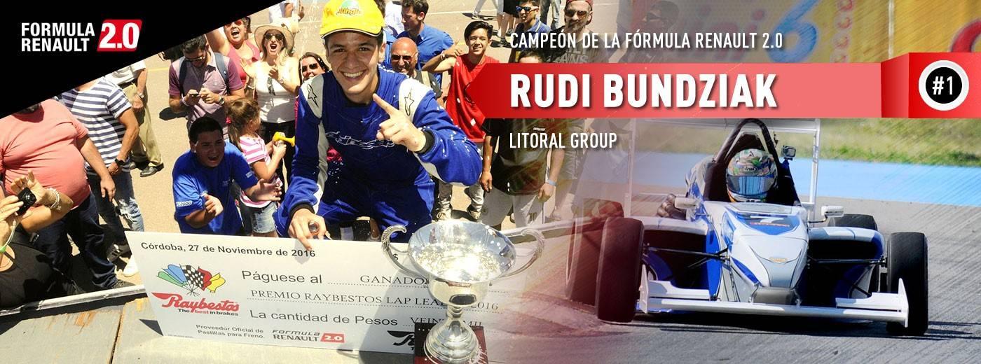 Rudi Bundziak Campeón 2016
