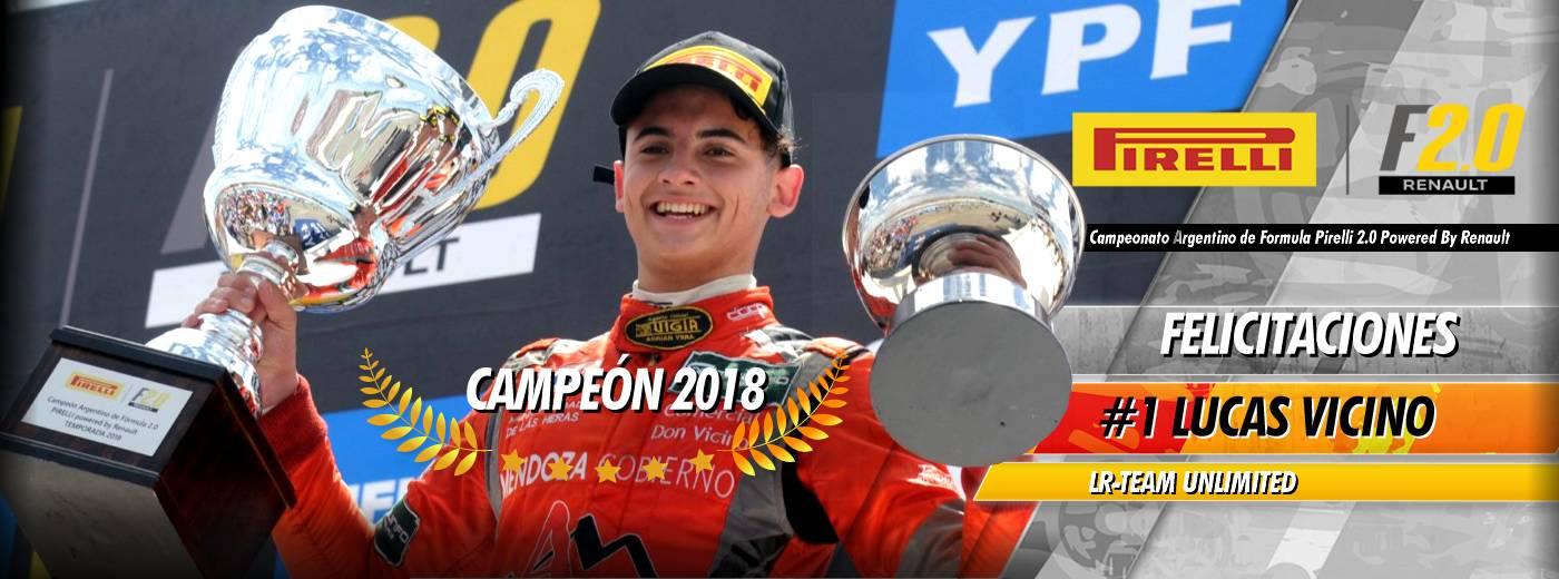 Lucas Vicino Campeón 2018